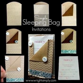 Sleeping Bag Invitations