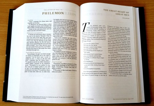 ESV Men's Devotional Bible - A Peek Inside