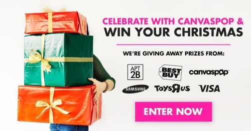 Win Your Christmas Giveaway from CanvasPop