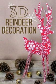 3D Reindeer Decoration