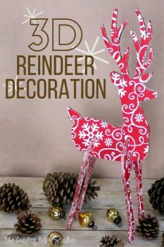 3D Reindeer Decoration