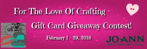 Textilbox and-Jo-Ann Fabrics Gift Card Giveaway