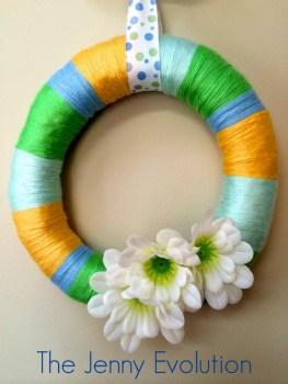 Spring Yarn Wreath