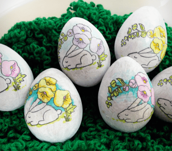Stamped Easter Eggs