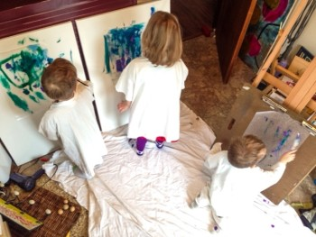 Toddler Art Takeover