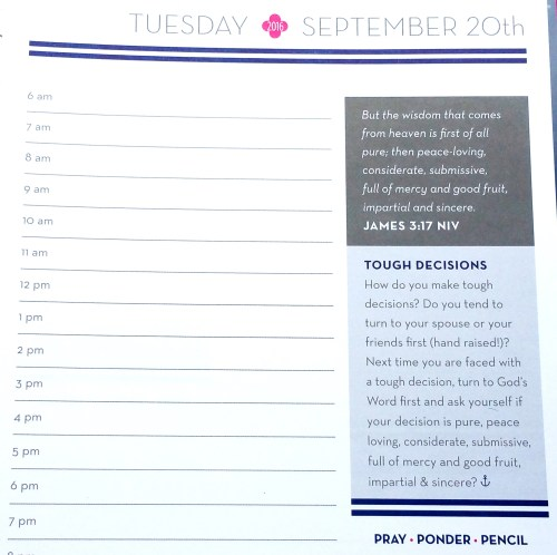 Anchored Press Planner - Reflections Close Up - Fliipped
