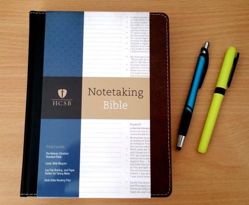 HCSB Notetaking Bible - Feature Photo - L