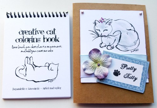 The Creative Cat Coloring Book and Pretty Kitty Card - L