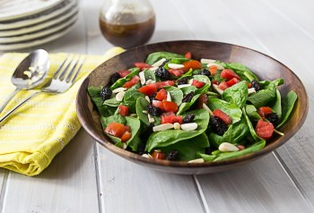 spinach-salad-pomegranate-balsamic