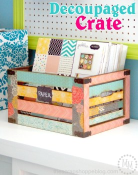 Decoupaged-Crate