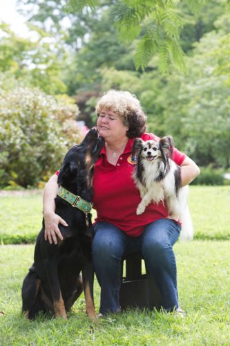Dixie And Her Dogs