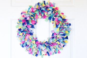 Fabric Rag Wreath