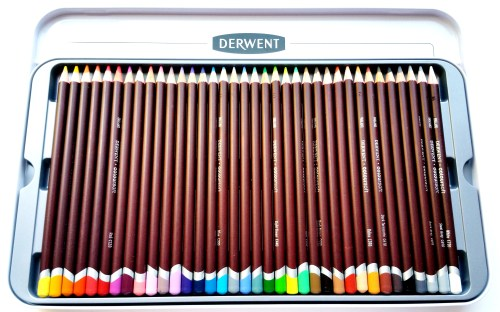 Derwent Coloursoft - 36 Color Pencils - Flipped