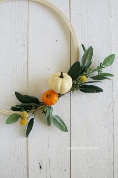 Pumpkin Embroidery Hoop Wreath