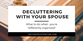 Decluttering With Your Spouse