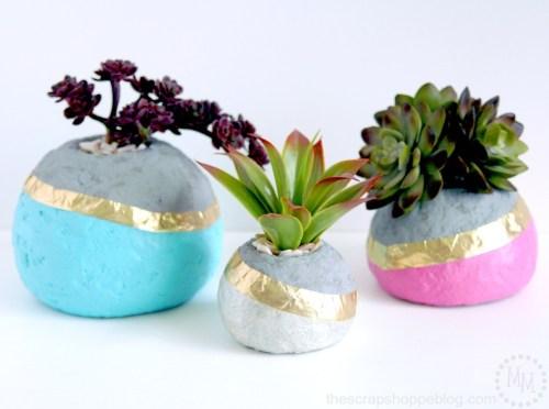 Faux Concrete Succulent Planters