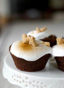 Smores Brownie Cupcakes