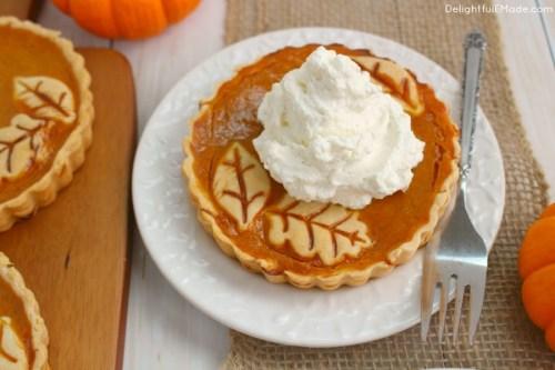 Pumpkin Pie Tarts