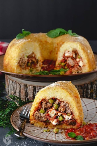 Neapolitan-Sausage-Meatballs-and-Rice-Timbale