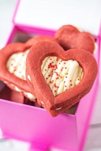 Red Velvet Shortbread Cookies