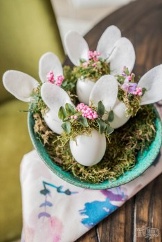 Easter Bunny Eggs with Floral Crowns