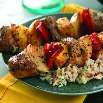 Caribbean-Pork-Kabobs