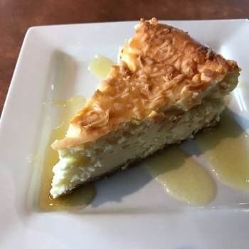 Coconut Cheesecake with Mango Sauce