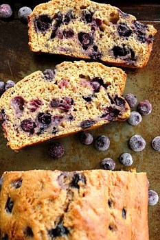Brown Sugar Blueberry Quickbread