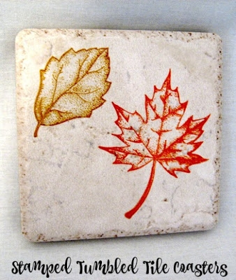 Stamped Tumbled Tile Coasters