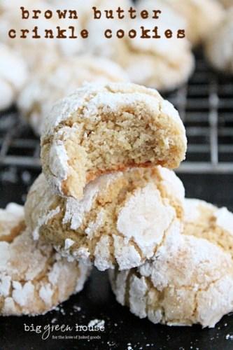 Brown Butter Krinkle Cookies
