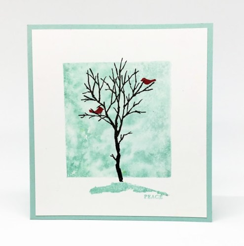Cardinals in a Winter Tree