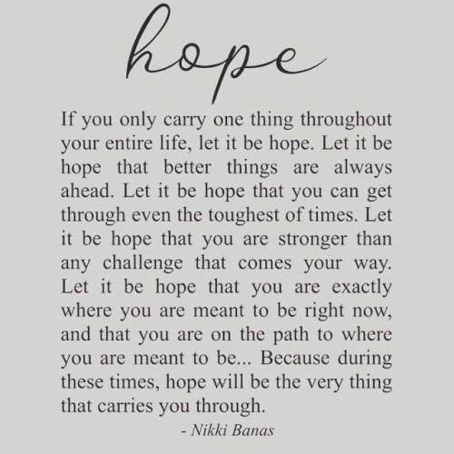 3 - Hope