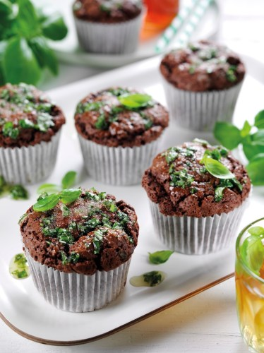 Chocolate And Basil Muffins