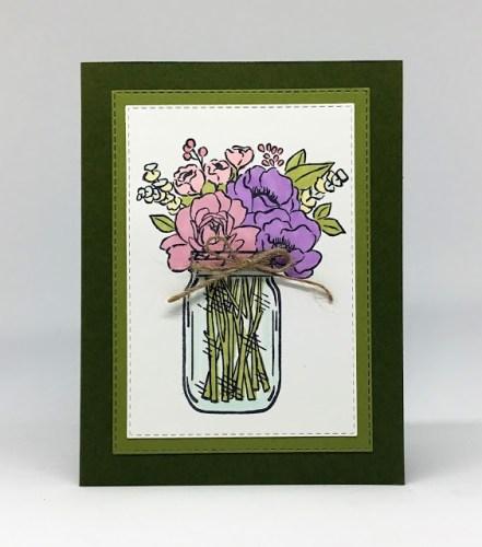 Flowers In Jar Card