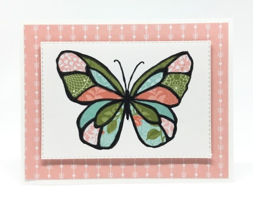 Quilted Stained Glass Card
