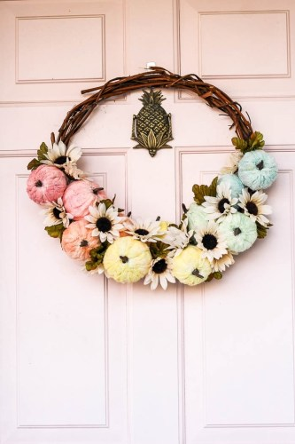 Tie Dye Pumpkin Wreath