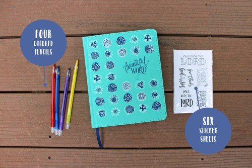 NIV Beautiful Word For Girls Bible Gift Set Contents