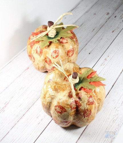 Decoupage Autumn Pumpkins