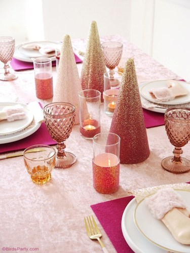 PInk Sugar Plum Christmas Tablescape