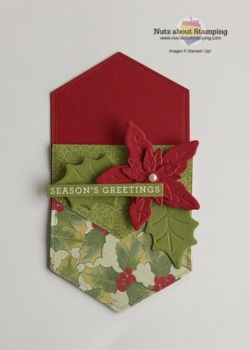 Poinsettia Place Card Holder