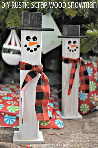 DIY Rustic Scrap Wood Snowman