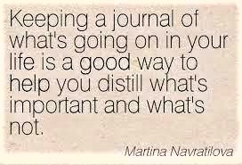 Keeping A Journal Quote