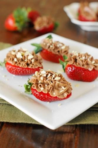 Nutella Strawberry Cheesecake Bites