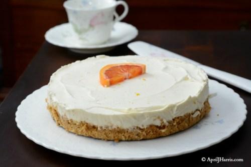 Orange No Bake Cheesecake