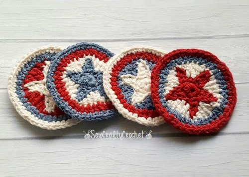 Red-White-Blue Star Coasters