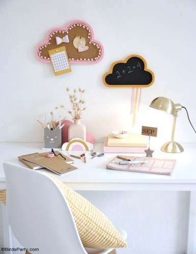 DIY Boho Kids Desk Decor