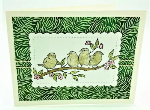 Four Birds Card