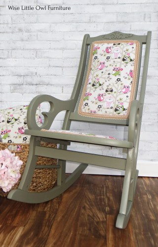 Colorful Painted Rocking Chair