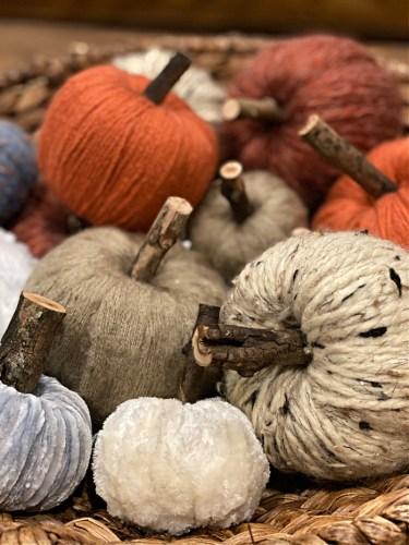 DIY Yarn Pumpkins