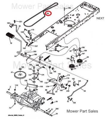 Transmission Drive Belt Made With Kevlar Fits Husqvarna